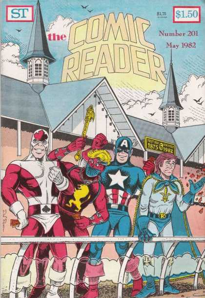 Comic Reader 201 - Captain America - Birds - Clouds - Tickets - Spires - Keno Rosa
