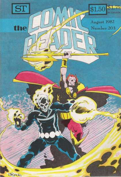 Comic Reader 203 - Ghost Rider - Blaze - Thor - Trident - Cape - Mike Mignola