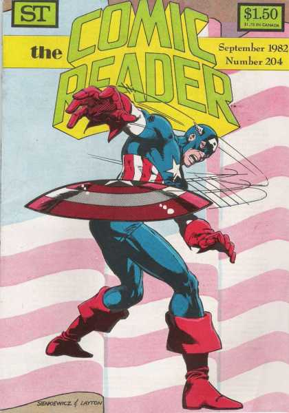 Comic Reader 204 - Captain America - Disk - Throw - Layton - Sienkiewicz - Bill Sienkiewicz