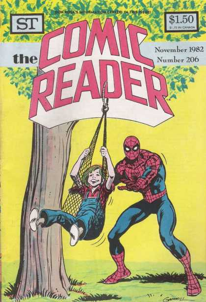 Comic Reader 206 - Spiderman - One Little Girl - Under The Tree - Enjoying - Yellow Color