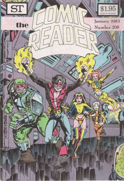 Comic Reader 208 - 1983 - American - Superheros - Team - Young Guys And Womans