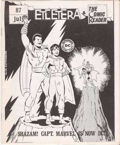 Comic Reader 87 - Alan Kupperberg - Father And Son - Lightning - Dc Buys Cpt Marvel - Standing On Mountains