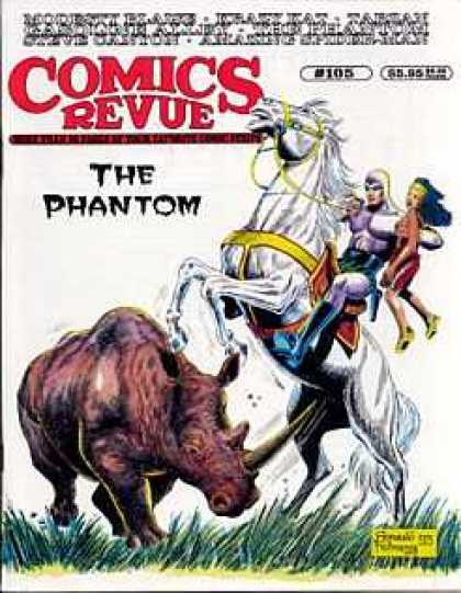 Comics Revue 105 - The Phantom - Rhinoceros - White Horse - Knight - Grasslands