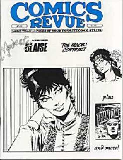 Comics Revue 120 - Blaise - The Maori Contract - The Phantom - Woman - Black And White