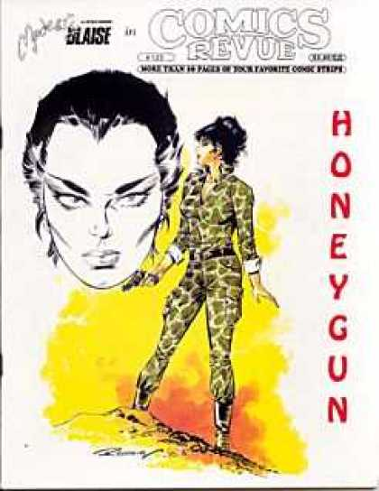Comics Revue 125 - Honeygun - Blaise - Woman - Tight Khaki - Gun