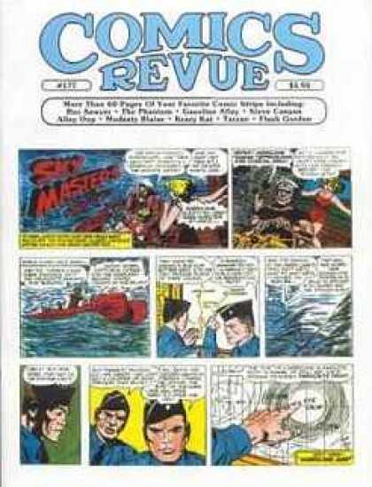 Comics Revue 177 - Sky Masters - Panels - Map - Water - Boat