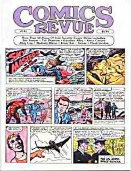 Comics Revue 181 - Sky Masters - Boxes - Plane - Military Men - Kissing