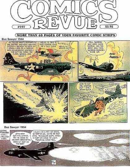 Comics Revue 197 - Speech Bubbles - Aircraft - Fire - Flames - Crash