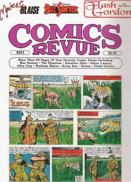 Comics Revue 203 - Tiger - Safari Hunters - Wild Animals - Issue Number 203 - Antelope