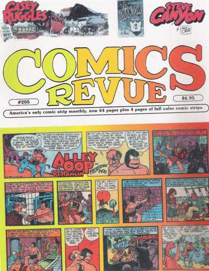 Comics Revue 205 - Casey Ruggles - Steve Canyon - Alley Oop - Americas Only Comic Strip Monthly - Full Color Comic Strips