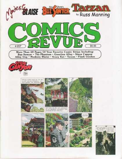 Comics Revue 207 - Tarzan - Russ Manning - Buz Sawyer - Steve Canyon - The Phantom