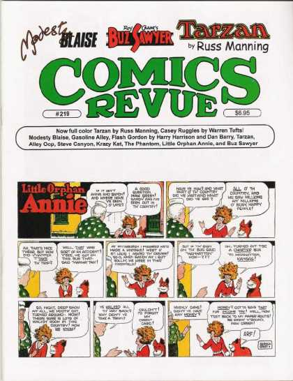 Comics Revue 219 - Russ Manning - Tarzan - Little Orphan Annie - Comics Review - Buzz Sawyer