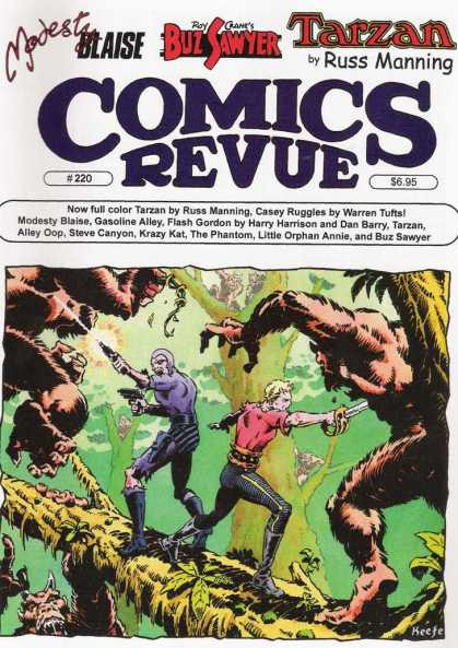 Comics Revue 220 - Modesty Blaise - Buz Sawyer - Tarzan - Phantom - Tree