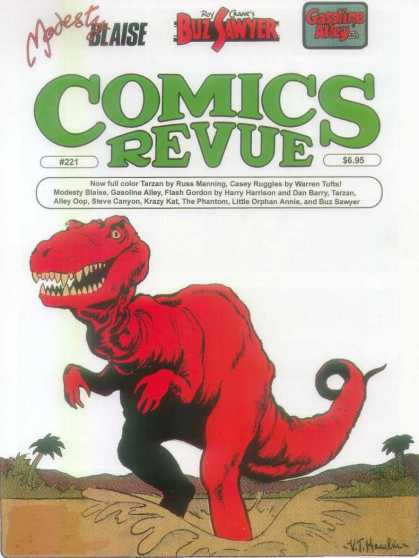 Comics Revue 221 - Red Dinosaur - Mud - Swamp - Teeth - Modest