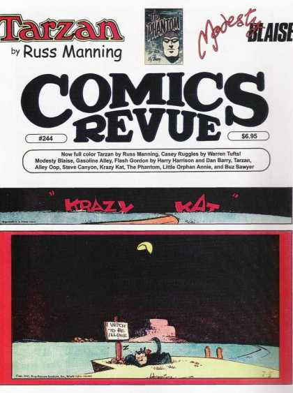 Comics Revue 244 - Tarzan - Russ Manning - Modesty - Sign On Post - Krazy Kat