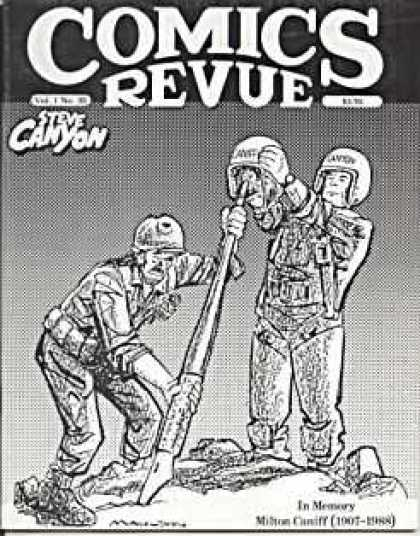 Comics Revue 30 - Steve Canyon - Helmet - Army - Soilders - Ink Pen