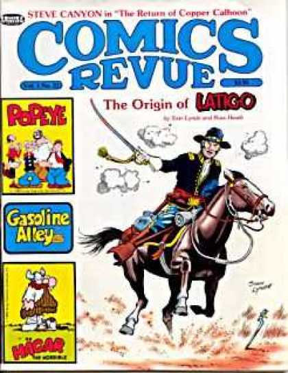 Comics Revue 31 - The Origin Of Latigo - Popeye - Gasoline Alley - Hagar The Horrible - Calvery Horse