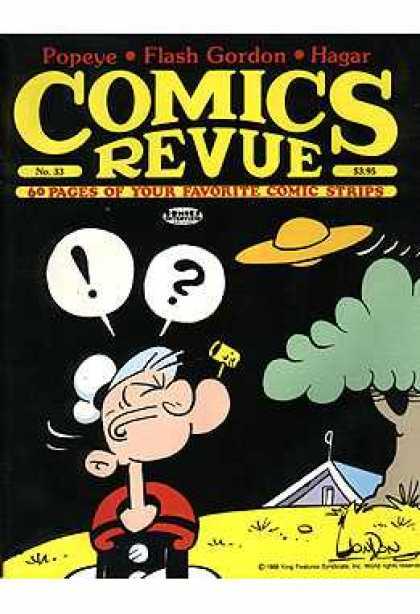Comics Revue 33 - Popeye - Pipe - Tree - House - Flying Saucer