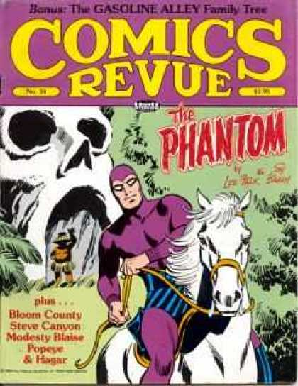 Comics Revue 34 - The Gasoline Alley Family Tree - The Phantom - Bloom Country - Steve Canyon - Modesty Blaise