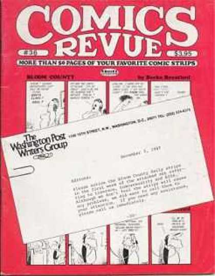 Comics Revue 36 - Washinton Post Writers Group - Letter - November 9 - Faviorite Comics Strips - 20
