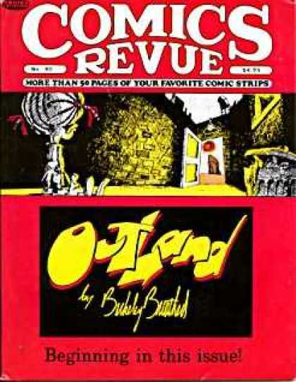 Comics Revue 40 - More Than 50 Pages Of Your Favorite Comic Strips - Outland - Open Door - Beginning In This Issue - Garbage Can