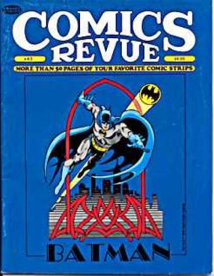 Comics Revue 43 - Batman - Bat Emblem - Cape - Mask - City