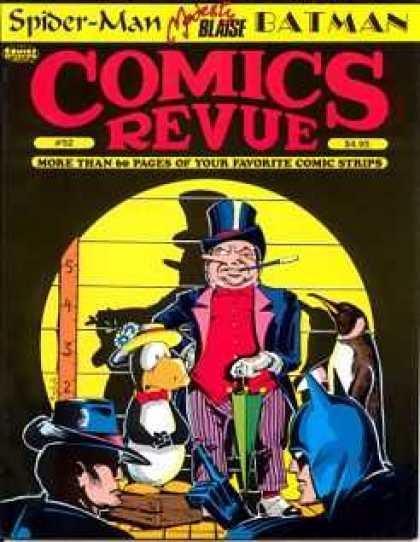 Comics Revue 52 - Spider Man - Batman - The Penquin - Yardstick - Cigartette With Holder