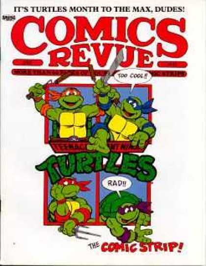 Comics Revue 58 - Teenage Mutant Ninja Turtles - Donatello - Leonardo - Michelangelo - Raphael