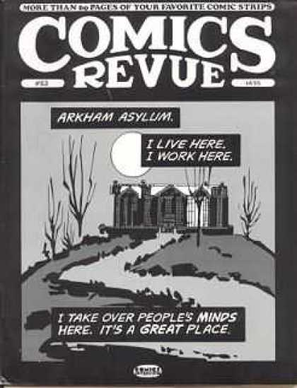 Comics Revue 63 - Arkham Asylum - I Live Here I Work Here - I Take Over Over Peoples Minds - Lonely Mansion On Hilltop - Night