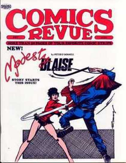 Comics Revue 67 - New - Modesty - Blaise - Modesty Blaise - Story Start