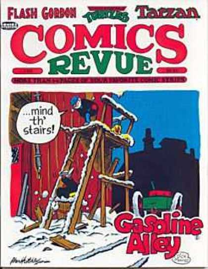 Comics Revue 69 - Gasoline Alley - Stairs - Fall - Man - Blue Hat