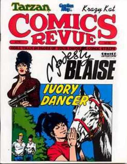 Comics Revue 73 - Modesty Blaise - Ivory Dancer - Grease Gun - Tarzan - Krazy Kat
