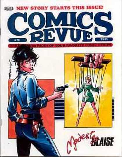 Comics Revue 78 - Modest Blaise - String Puppet - Gun - Woman In Blue - Hand