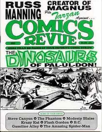 Comics Revue 89 - Russ Manning - The Diosaurs Of Palu-ul-don - Tarzan - Comics Revue - Creator Of Magnus