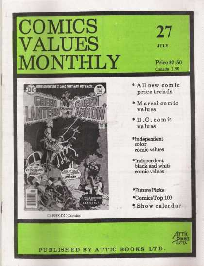 Comics Values Monthly 27