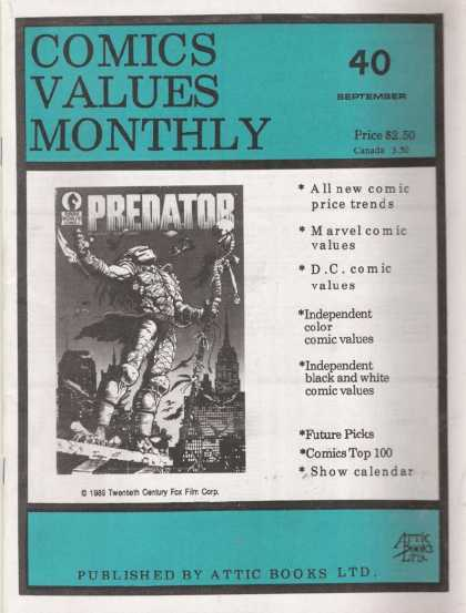 Comics Values Monthly 40