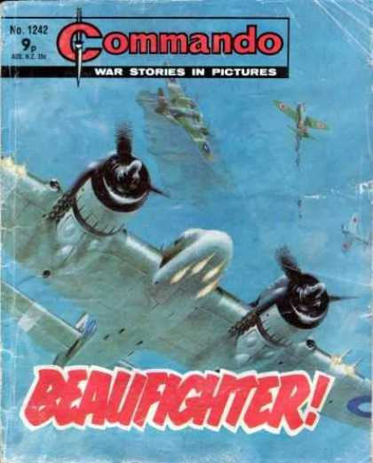 Commando 1242 - War Stories In Pictures - War Planes - Beaufighter - Sky - Clouds
