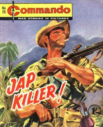 Commando 15 - Cigarette - Gun - Hat - Palm Tree - Dagger