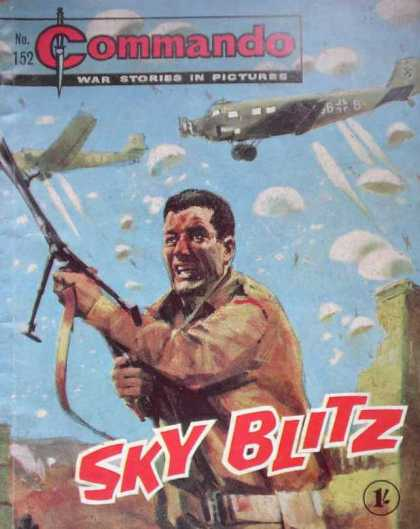 Commando 152 - Parachute - War Stories In Picture - Airplane - Sky Blitz - Military