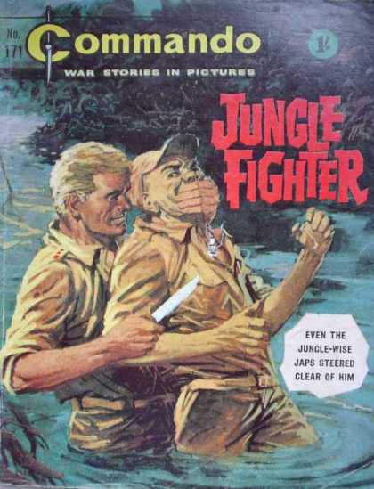 Commando 171 - War Stories In Pictures - Jungle Fighter - Cap - Knife - Water