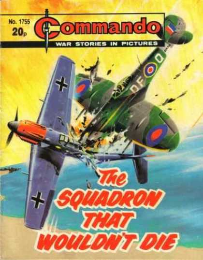 Commando 1755 - No 1755 - Dogfight - Airplanes - Beach - The Squadron That Wouldnt Die