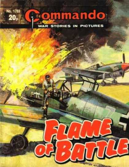 Commando 1763 - War Stories In Pictures - Airplanes - Flame Of Battle - Explosion - Black Smoke