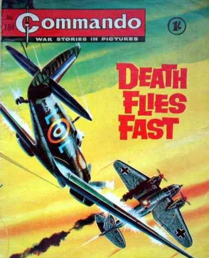 Commando 184 - Fighter Planes - Sky - Falling Down - Hit Plane - Plane Engines