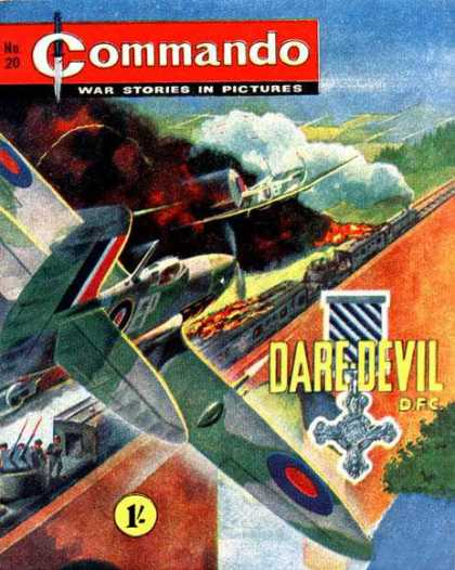 Commando 20 - No 20 - War Stories In Pictures - Fighter Jet - Daredevil - 1