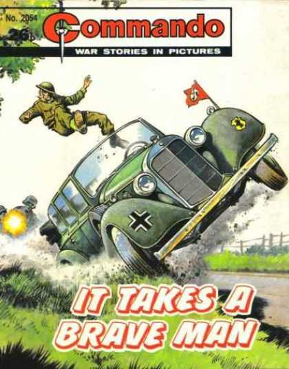 Commando 2054 - Military Wagon - Man In Green - It Takes A Brave Man - Guns - War Stories In Pictures