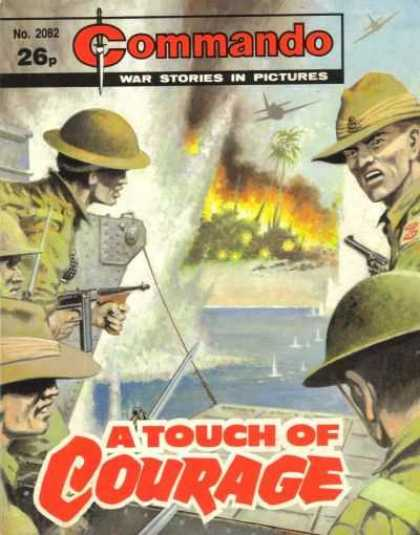 Commando 2082 - War Stories In Pictures - A Touch Of Courage - Gun - Fire - Tree