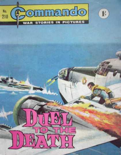 Commando 210 - Duel To The Death - Plane - Ship - Man - War Stories In Pictures