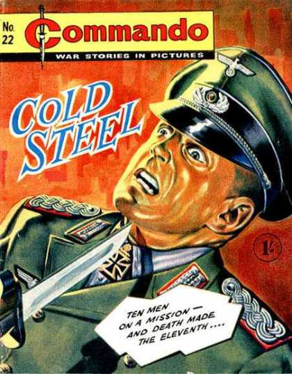 Commando 22 - Cold Steel - German - War - Nazis - Officer