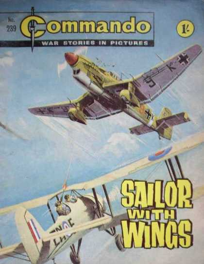 Commando 239 - Plane - War Stories In Pictures - Sailor With Wings - Machinegun - Man