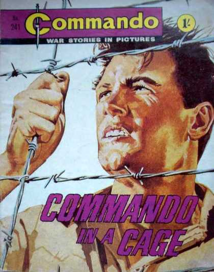 Commando 241 - War Stories In Pictures - Cage - Man - Soldier - Prison
